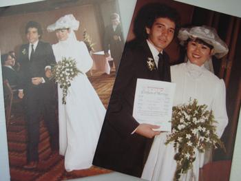 デーブ夫妻の結婚式写真